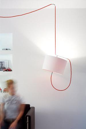 Lampenschirm, Lampenschirme, Spots, Spot, Kabel, Steng Licht, re-light, re-flect, e27 berlin, Glühlampenfassung E27, Strahler, Designpreis, Stoffkabel