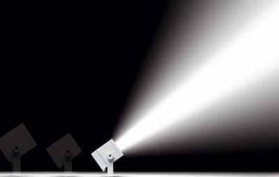 Scheinwerfer, Metalldampflampen, Metalldampflampe, Kompakt-Scheinwerfer, Lichttechnik, Außenbeleuchtung, Architekturlicht, Leuchtmittel, Architekturbeleuchtung