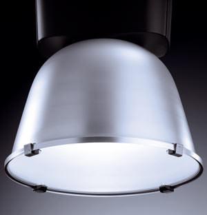 Hallenspiegelleuchte für hohe Hallen, Hallenbeleuchtung, Hallenleuchte, Hängeleuchten, Hallenleuchten, Beleuchtung hoher Räume, Hochdrucklampe, Lichtpunkte, Hochdrucklampen