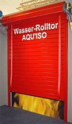 Feuerschutztor, Brandschutztor, Feuerschutztore, gefüllte Feuerschutztore, Deutscher Brandschutzpreis, Brandschutztore, mit Wasser gefülltes Feuerschutztor, Brandschutz-Tore, Brandschutz
