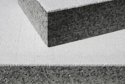 Fassadendämmung, Fassadendämmplatte, Fassadendämmplatten, Knauf Dämmstoffe, Knauf Insulation, grau-weiße Fassadendämmplatte, WDVS, Wärmedämmverbundsystem, Wärmeleitgruppe, WLG 035, EPS-Dämmung