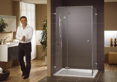 Duschabtrennung, Echtglas-Duschwände, Duschwände, Duschabtrennungen, Runddusche, Rundduschen, Duschwand, Wohnbad, Echtglas-Duschabtrennung, ESG, Oberflächenveredelung, Einscheiben-Sicherheitsglas