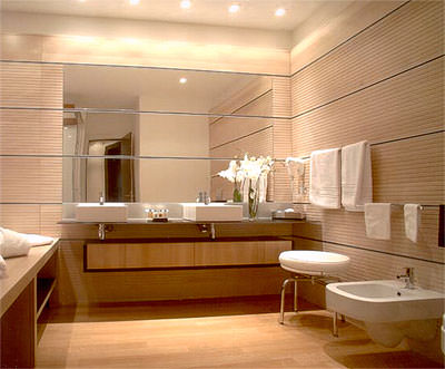 Holzböden, Parkett im Badezimmer