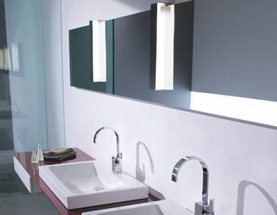 beleuchteter Badezimmerspiegel, Spiegelleuchte, Spiegel, Horizontalspiegel, Leuchte, Leuchten, Spiegelleuchten, Waschplatz