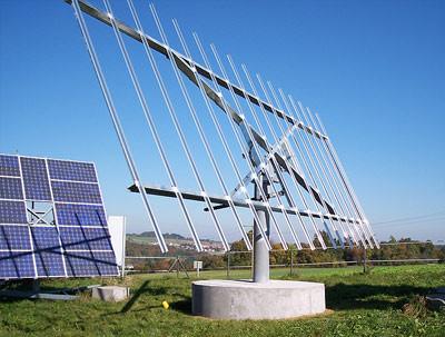 Nachführsystem für Solarmodule, Photovoltaik, Nachführung von Solaranlagen, Solarzellen nachführen, Tracking