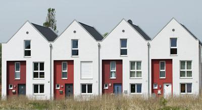 KfW-40-Reihenhaus, giebelständige Häuser, Grachtenarchitektur, Wärmepumpe anstatt Pelletheizung, Wärmepumpe, Wärmepumpen, Haustechnik, Lüftungskompaktgerät, Wärmerückgewinnung, Luftvorerwärmung