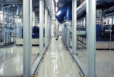 Gewässerschutz-Beschichtung, Bodenbeschichtung, Industrieboden, Gewässerschutz, Wasserhaushaltsgesetz, Betonboden, WHG-Boden, befahrbar, rutschhemmend, rutschhemmende Oberfläche