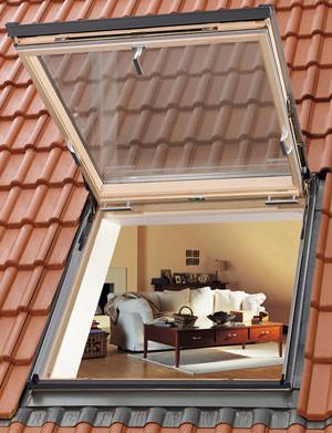 Ausstiegsfenster, Klapp-Schwing-Fenster, Dachfenster, Dachausstiegsfenster, Dachausstieg, zweiter Fluchtweg, Wohndachfenster, Kaltdach
