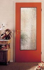 Glasausschnitt in Wohnungstüren, Wohnungstür mit Glaseinsatz, Glasausschnitte aus Sicherheitsglas, Fensterglas, Glassplitter, Glasbruch, einfache Verglasung