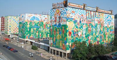 Fassadengestaltung / Kunst am Bau / Kunstwerk am Plattenbau von Michael Fischer-Art