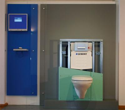 Toilettenspülung, Sanitärtechnik, Spülung, Spülkasten, Wandeinbau-Spülkasten, Unterputzspülkasten