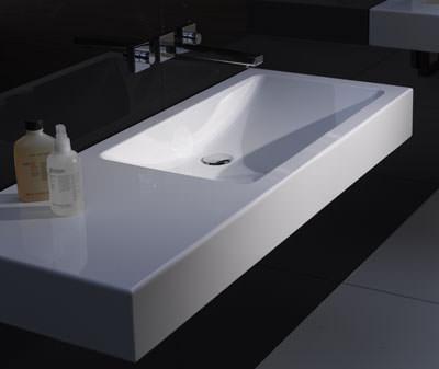 Waschtisch, glasierter Stahl, Stahlwaschtisch, Beckenmulde, Waschbecken, Waschtische