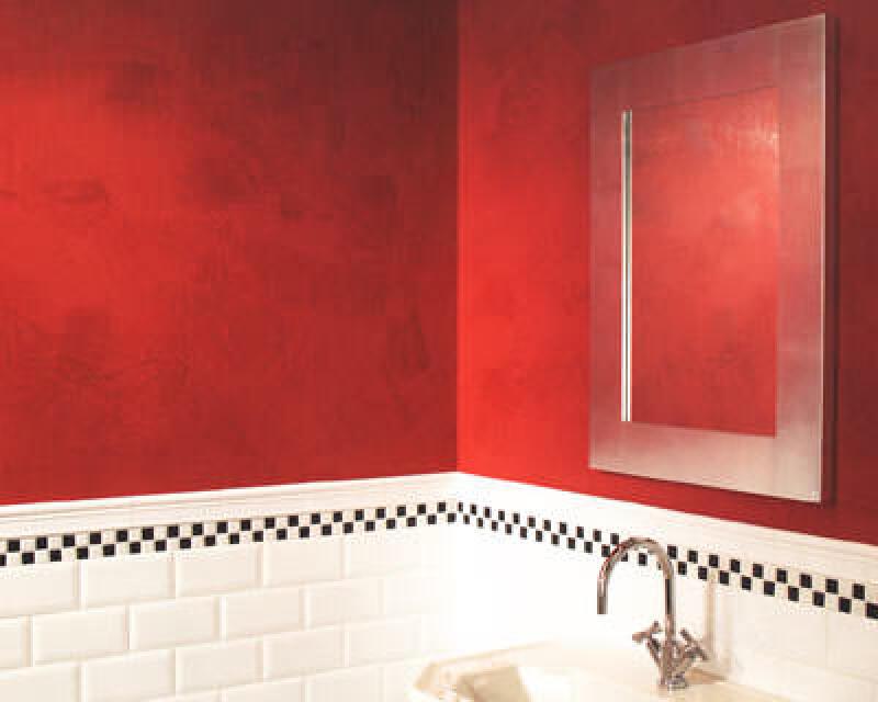 Wandgestaltung, marmorierte Wände, Innenwand, Wandoberfläche spachteln, Spachteltechnik, Farblasur, Fliesenleger, Zusatzgeschäft, Wandverkleidung, Badezimmer, Marmorspachtel, Abtönfarbe, eingefärbte Spachtelmasse, Wandspachteltechnik