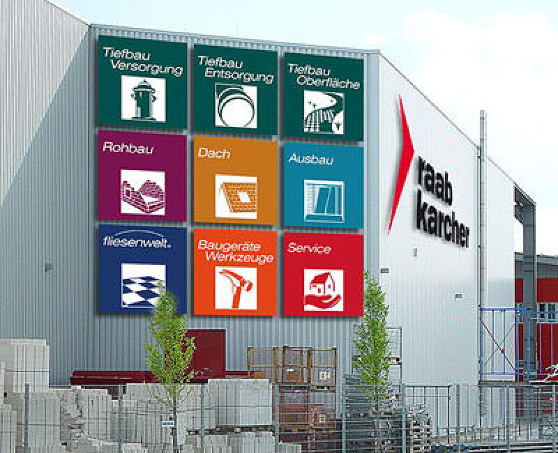 Baustoffhandel, Baustoffhandel, Raab Karcher, Tiefbau, Oberfläche, Versorgung, Entsorgung, Rohbau, Dach, Ausbau, Fliesen, Werkzeuge, Baugeräte, Bauservice, Baustoffe