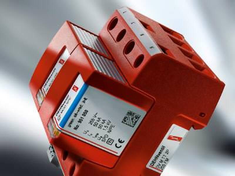 Blitzschutz, Überspannungsschutz, Blitzschutz-Potentialausgleich, Überspannung, Potentialausgleich, elektrische Anlagen, DEHNventil modular, DEHN + SÖHNE, Ableiter, Blitzschutzanlage, Schutzmodul, Folgestrombegrenzung