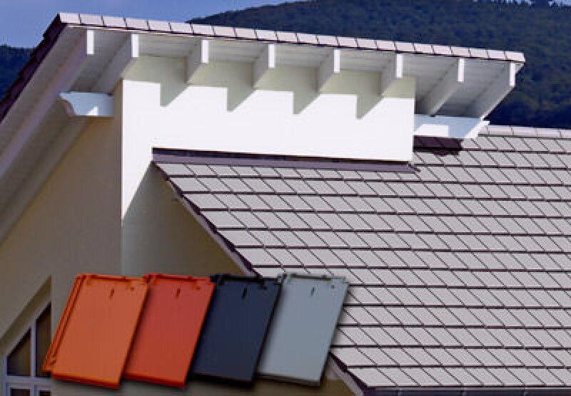 Dachziegel, Flachziegel, Dachziegelmodell, Dachbaustoffe, Dachdeckung, Ziegel, Tondachziegel, Blech, Zink, Nagelloch, Flachdachziegel, Sonderziegel, Deutsche Ausbaumesse, Oberflächenveredelung, flächiger Ziegel