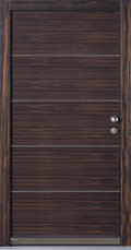 Holzhaustür aus Makassar-Ebenholz