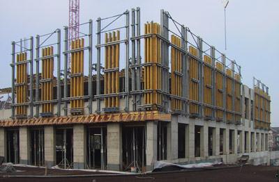 Fassadenschalung, Ortbeton, Betonfertigteil, Betonschalung, Fertigteil, Ortbetonstützen