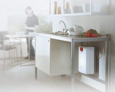 AEG Kleinspeicher, dezentrale Warmwasserbereitung, Warmwasserbereitung, Untertischgeräte, ThermoStop-Technologie, Energieeinsparung