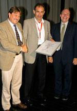 VFF-Geschäftsführer Ulrich Tschorn, Ulrich Sieberath (ift Rosenheim), Bernhard Helbing TMP Fenster+ Türen, VFF-Verbandspräsident