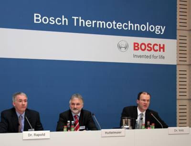 Dr. Ingo Rapold, Klaus Huttelmaier, Dr. Thomas Volz, Solarthermie, Thermotechnikmarkt, Bosch Thermotechnik
