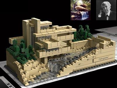 Villa Fallingwater, Frank Lloyd Wright, LEGO Architecture, LEGO Steine