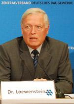 ZDB-Präsident Dr.-Ing. Hans-Hartwig Loewenstein