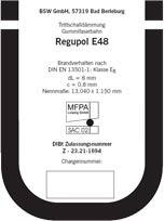 Regupol BA und Regupol E48, BSW GmbH - Berleburger Schaumstoffwerk