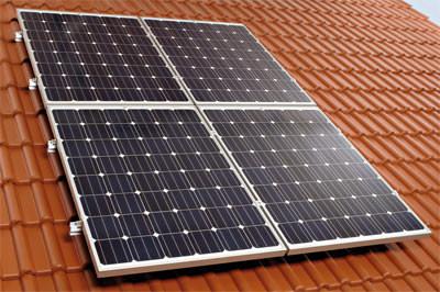 Photovoltaik Aufdachsystem, Solarstrom-Anlage