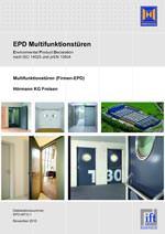 Multifunktionstür, Umweltproduktdeklaration, EPD, Stahltür