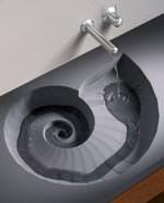 Ammonit: Beton-Waschbecken