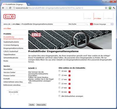 Sauberlaufzone, Eingangsmattensysteme online auswählen