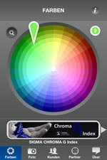 iPhone-App SIGMA ColourMate