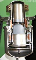 Pelletsheizung mit Freikolben-Stirling-Motor des Herstellers Microgen Engine Corporation
