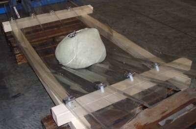 PVC-Licht- und Bauplatten geprüft auf Durchsturzsicherheit