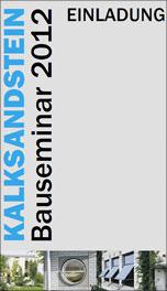 Einladung Kalksandstein Bauseminare 2012