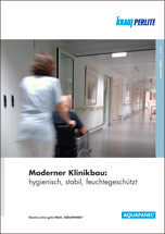 Knauf Aquapanel-Broschüre zum Klinikbau mit Aquapanel Cement Board Indoor