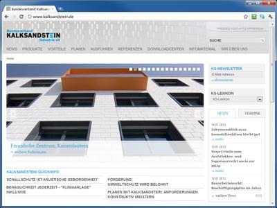 neue Kalksandstein-Website