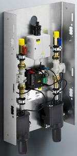Die Viega Spülstation kann in Kalt- und/oder Warmwasser-Anlagen in Vorwand- und Trockenbauwänden sowie auf Putz installiert werden.