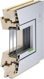 "Aluminium-Holz-Fenster ""AHF 105 S Modern"""