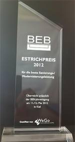Estrichpreis 2012