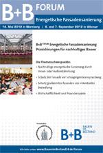 B+B FORUM 2012 Energetische Fassadensanierung am 7.9. in Wismar