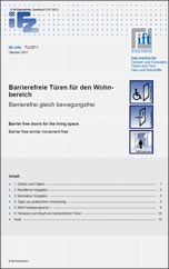 ifz info TU-07/1: Barrierefreie Türen für den Wohnbereich