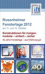 Programm 40. Rosenheimer Fenstertage am 11. und 12. 10.2012