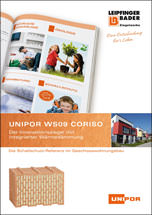 """Broschüre """"Unipor WS09 Coriso – der Innovationsziegel mit integrierter Wärmedämmung"""""""