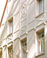 Gutswohnhaus des Gräftenhofs: Fachwerk und Ornament