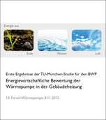 """Studie """"energiewirtschaftlichen Bewertung der Wärmepumpe in der Gebäudeheizung"""""""