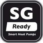 """SG Ready"" Logo des Bundesverbandes Wärmepumpe (BWP) e.V."