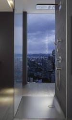 BetteFloor Side - Stahl/Email-Dusche mit außermittigem Ablauf