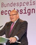 Bundesumweltminister Peter Altmaier eröffnete die ecodesign Preisverleihung